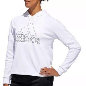 Adidas White Long Sleeve Sweatshirt Hoodie M. D